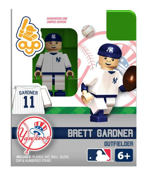 New York Yankees MLB Generation One Brett Gardner Minifigure