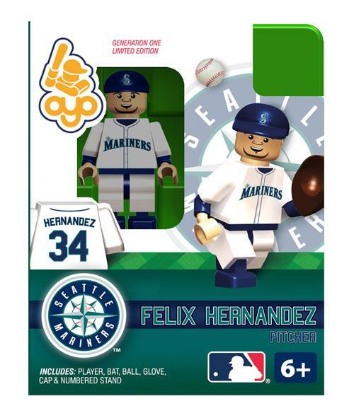 Seattle Mariners MLB Generation One Felix Hernandez Minifigure