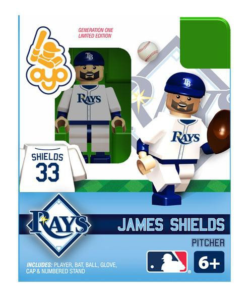 Tampa Bay Rays MLB Generation One James Shields Minifigure