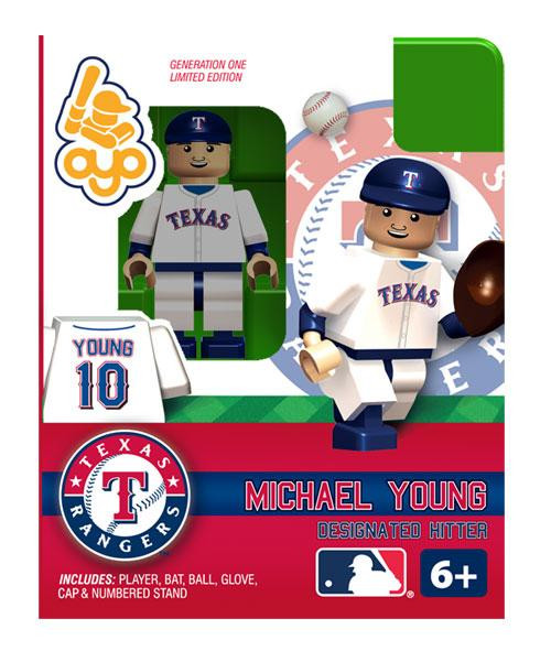 Texas Rangers MLB Generation One Michael Young Minifigure