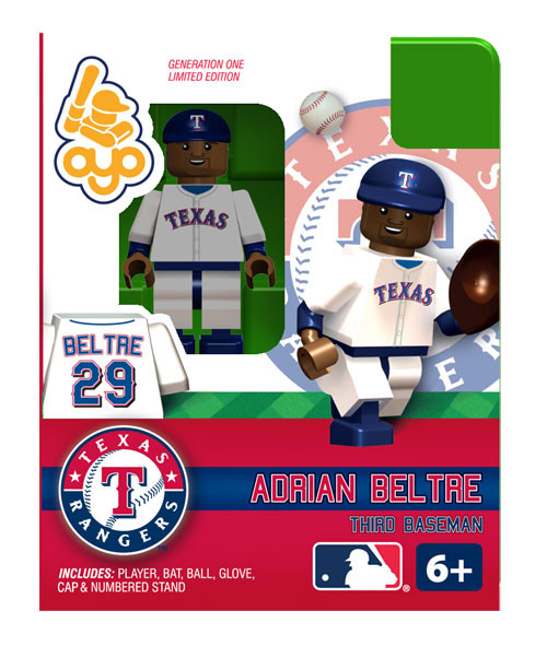 Texas Rangers MLB Generation One Adrian Beltre Minifigure