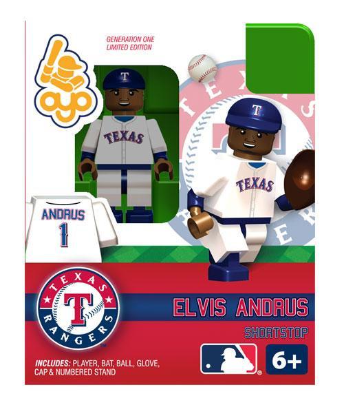 Texas Rangers MLB Generation One Elvis Andrus Minifigure