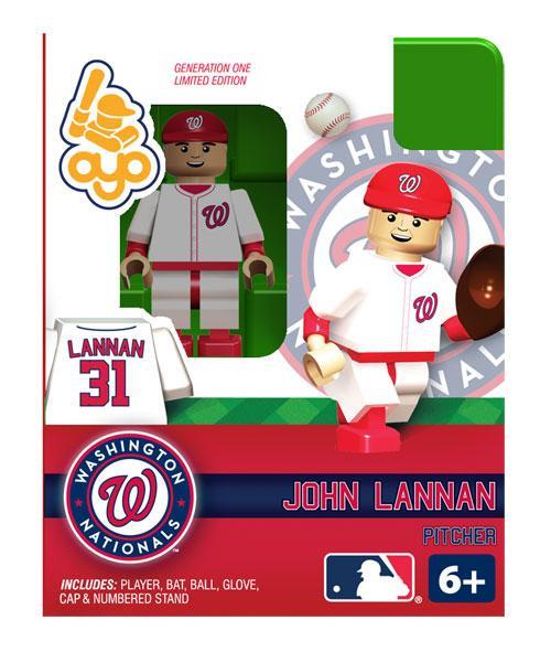 Washington Nationals MLB Generation One John Lannan Minifigure