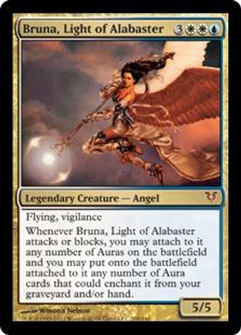 MtG Avacyn Restored Mythic Rare Bruna, Light of Alabaster #208