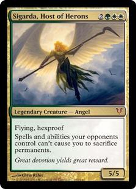 MtG Avacyn Restored Mythic Rare Sigarda, Host of Herons #210