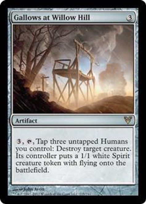 MtG Avacyn Restored Rare Gallows at Willow Hill #215