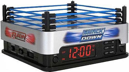 WWE Wrestling Raw / Smackdown Alarm Clock with AM / FM Radio