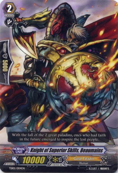 Cardfight Vanguard Slash of the Silver Wolf Fixed Knight of Superior Skills, Beaumains TD05/004EN