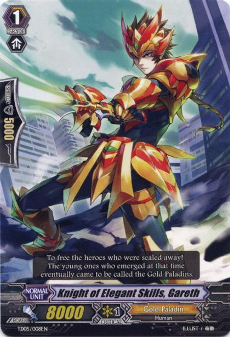 Cardfight Vanguard Slash of the Silver Wolf Fixed Knight of Elegant Skills, Gareth #008