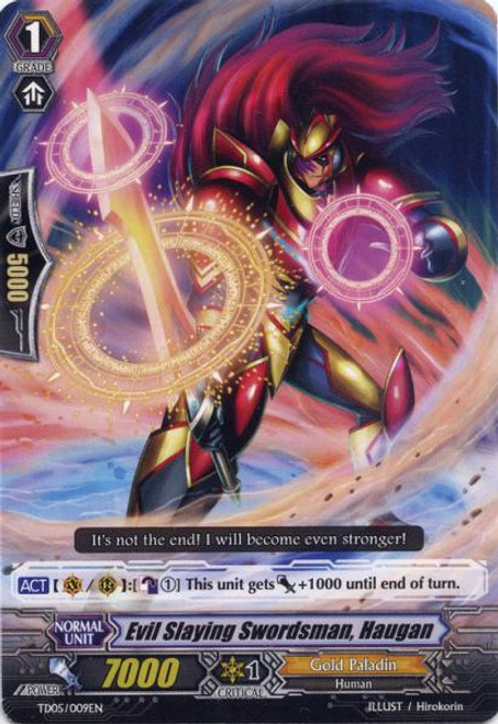 Cardfight Vanguard Slash of the Silver Wolf Fixed Evil Slaying Swordman, Haugan #009