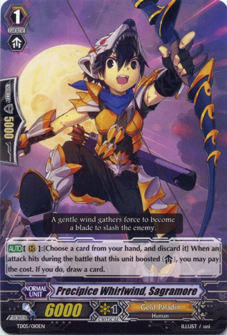 Cardfight Vanguard Slash of the Silver Wolf Fixed Precipice Whirlwind, Sagramore #010