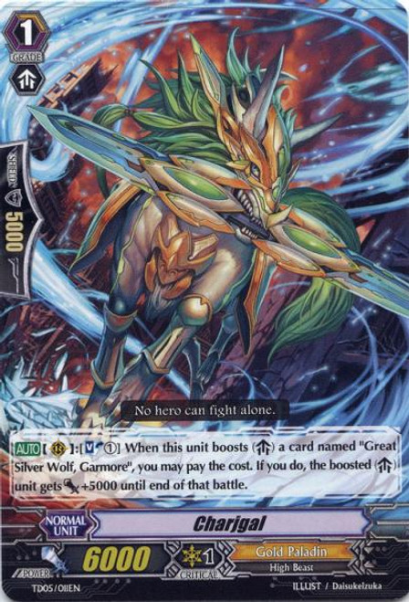 Cardfight Vanguard Slash of the Silver Wolf Fixed Charjgal #011