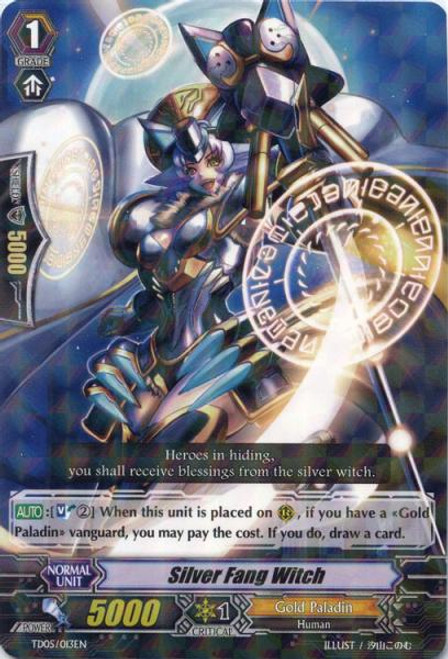 Cardfight Vanguard Slash of the Silver Wolf Fixed Silver Fang Witch #013