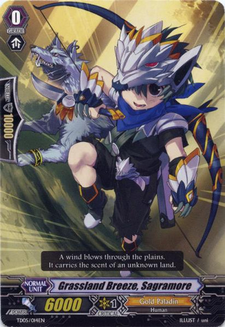 Cardfight Vanguard Slash of the Silver Wolf Fixed Grassland Breeze, Sagramore #014
