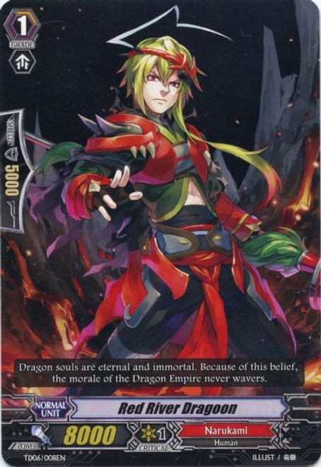 Cardfight Vanguard Resonance of the Thunder Dragon Fixed Red River Dragoon TD06/008