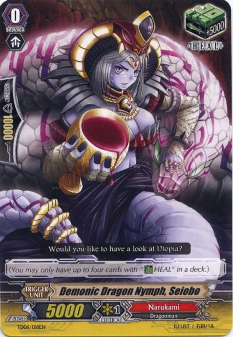 Cardfight Vanguard Resonance of the Thunder Dragon Fixed Demonice Dragon Nymph, Seiobo TD06/018