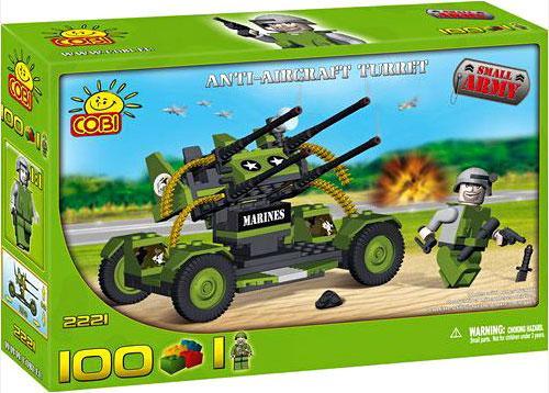 COBI Blocks Small Army Anti-Aircraft Turret Set #2221