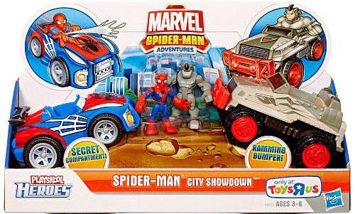 Marvel Playskool Heroes Super Hero Adventures Spider-Man City Showdown Exclusive Action Figure Set