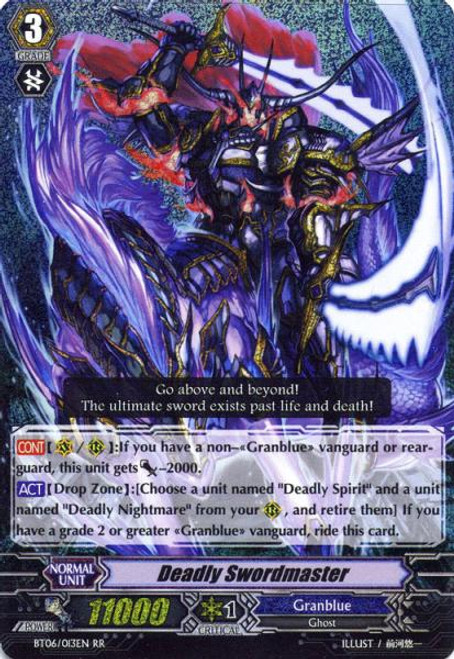Cardfight Vanguard Breaker of Limits RR Rare Deadly Sword Master BT06/013
