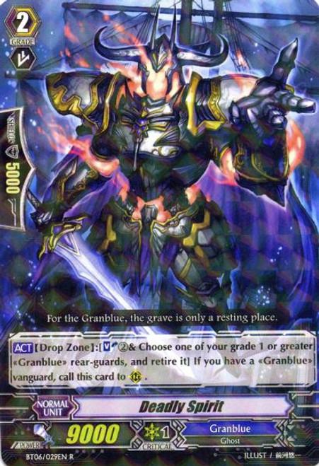 Cardfight Vanguard Breaker of Limits Rare Deadly Spirit BT06/029