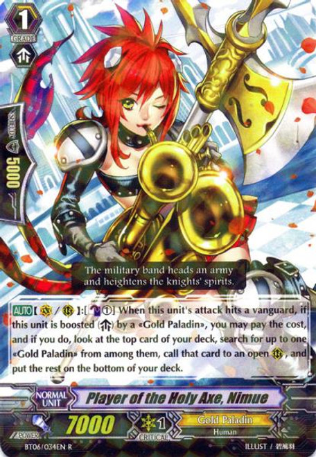 Cardfight Vanguard Breaker of Limits Rare Performer of the Saintly Axe, Nimue BT06/034