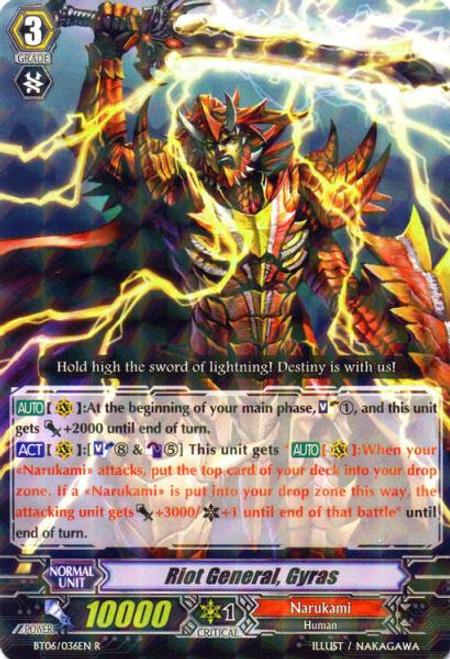 Cardfight Vanguard Breaker of Limits Rare Riot General, Gairas BT06/036