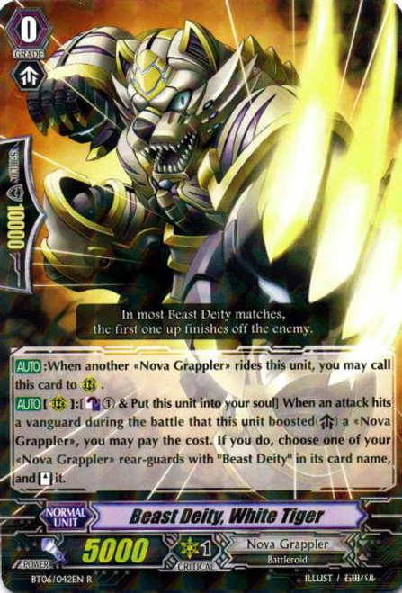 Cardfight Vanguard Breaker of Limits Rare Beast God, White Tiger BT06/042