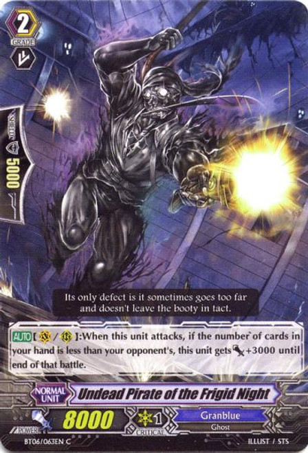 Cardfight Vanguard Breaker of Limits Common Undead Pirate of the Frigid Night BT06/063