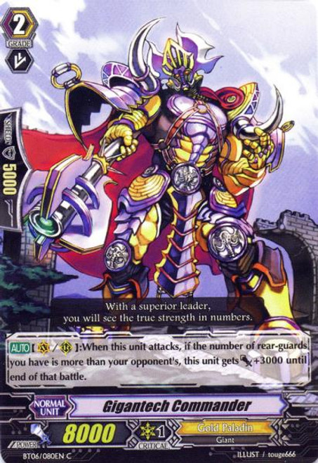 Cardfight Vanguard Breaker of Limits Common Gigantech Commander BT06/080