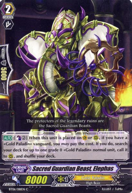 Cardfight Vanguard Breaker of Limits Common Sacred Guardian Beast, Elephas BT06/081