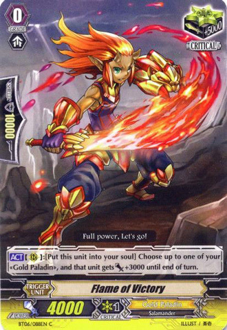 Cardfight Vanguard Breaker of Limits Common Flame of Victory BT06/088