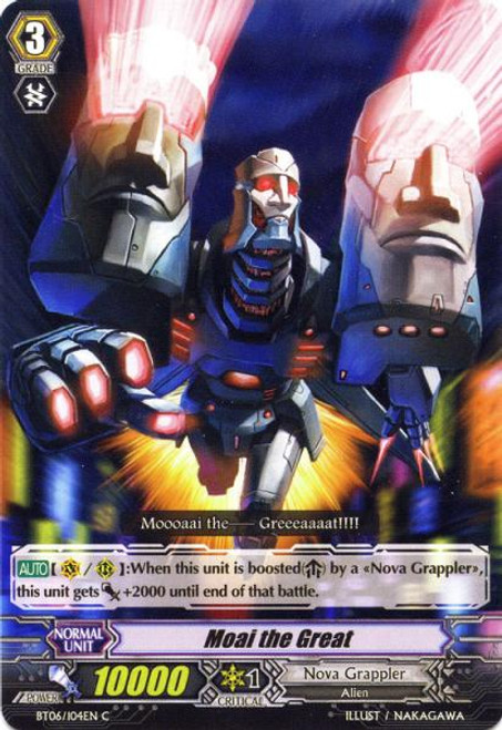 Cardfight Vanguard Breaker of Limits Common Moai the Great BT06/104