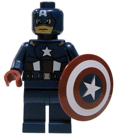 LEGO Marvel Super Heroes Loose Captain America Minifigure [Loose]