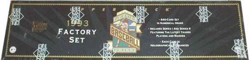 MLB 1993 Upper Deck Baseball Cards Complete Set [Factory Sealed]