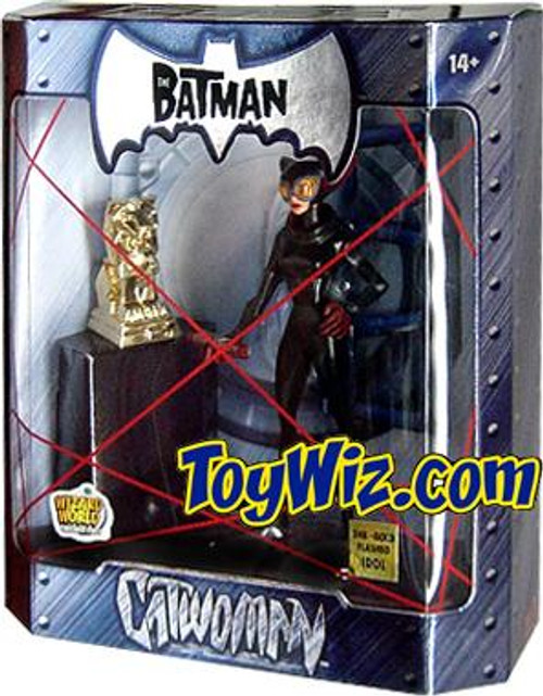 The Batman Catwoman Exclusive Action Figure [24K Gold Statue Variant, Damaged Package]