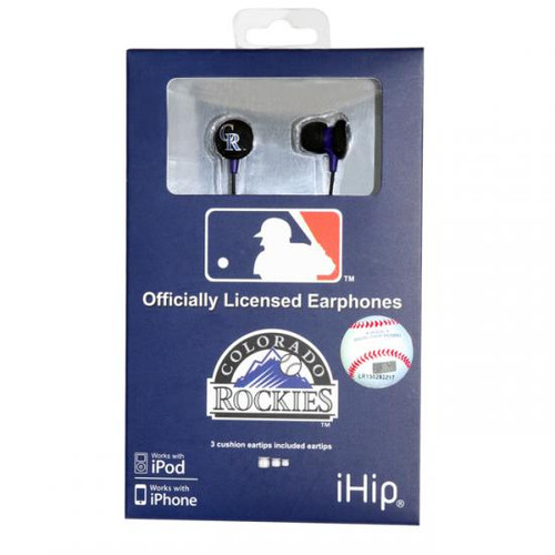 MLB Colorado Rockies Earphones