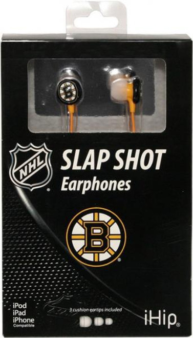 NHL Slap Shot Earphones Boston Bruins Earbuds
