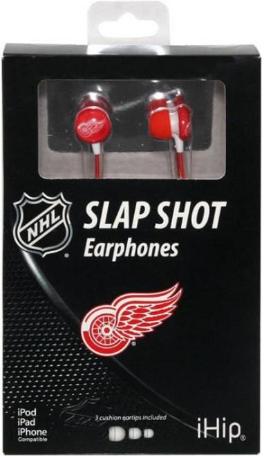 NHL Slap Shot Earphones Detroit Red Wings Earbuds
