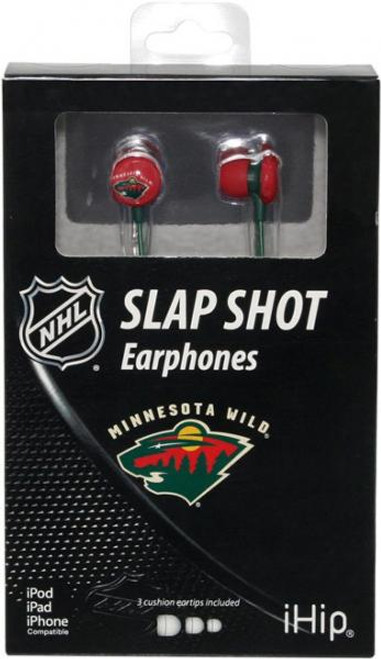 NHL Slap Shot Earphones Minnesota Wild Earbuds