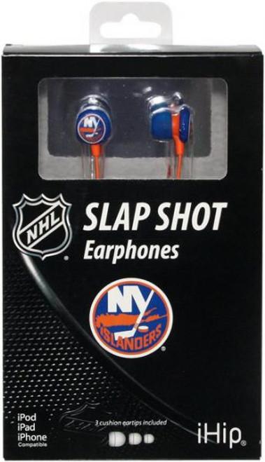 NHL Slap Shot Earphones New York Islanders Earbuds