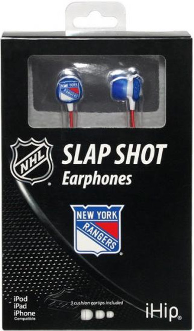 NHL Slap Shot Earphones New York Rangers Earbuds
