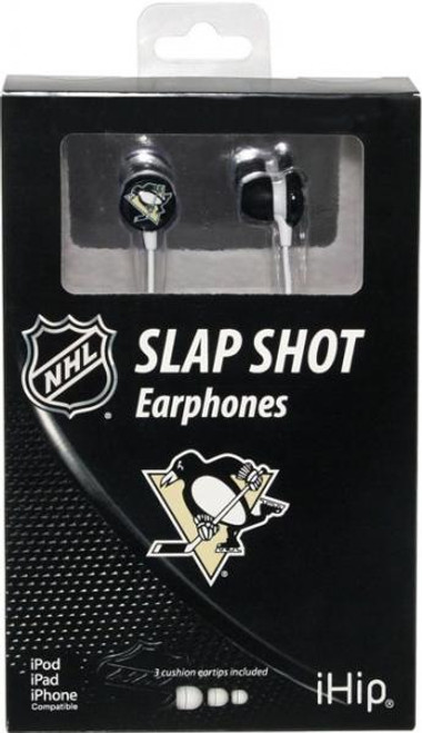 NHL Slap Shot Earphones Pittsburgh Penguins Earbuds