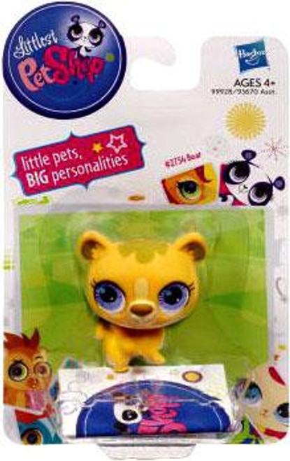 Littlest Pet Shop Bear Figure #2754 [Yellow]