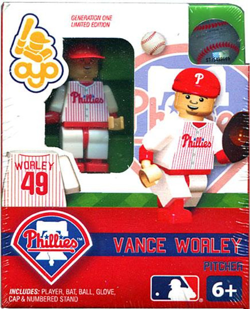 Philadelphia Phillies MLB Generation One Vance Worley Minifigure