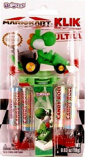 Super Mario Mario Kart 7 Klik Candy Dispenser Ultra Yoshi Candy