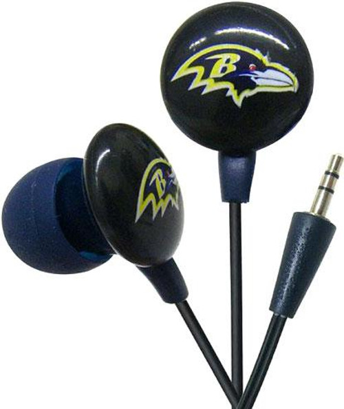 NFL Sports Earphones Baltimore Ravens Earbuds