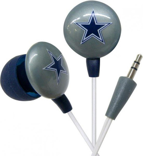 NFL Sports Earphones Dallas Cowboys Earbuds