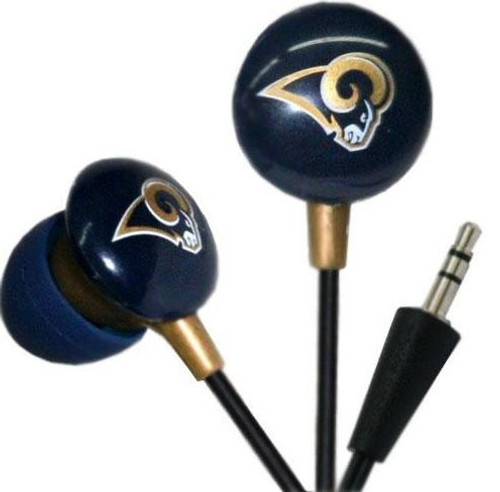 NFL Sports Earphones St. Louis Rams Earbuds