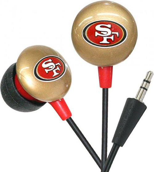 NFL Sports Earphones San Francisco 49ers Earbuds