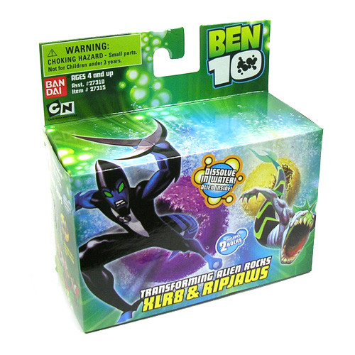 Ben 10 Transforming Alien Rocks XLR8 & Ripjaws 1-Inch Mini Figure Set